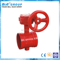 Cast Iron Grooved End Butterfly Valve DN65