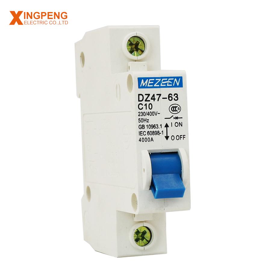 DZ47-63 C40 Single Pole Miniature Circuit Breaker