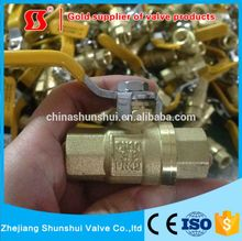 SS2060 206 Brass Full Port Ball Valve Hand lever flow restricting air control brass ball valve/Pneumatic valve