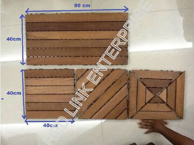 Solid Wooden Decking Tiles / Hardwood / Merbau Timber