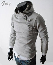 mens collar Hoodies - hoodie with leather sleaves - hoodies - womens Hoodies , Sweatshirts with Leather Sleeve,genuine leather
