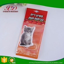 Wholesale Hanging Paper Custom Cat Car Air Freshener for Promotion