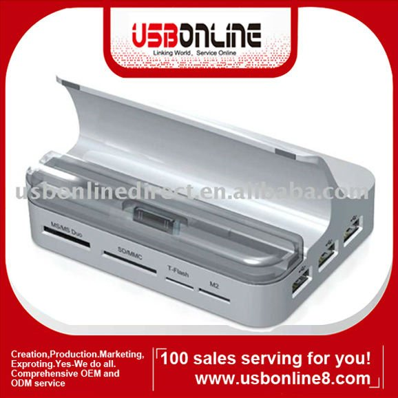 All in 1 One Docking Station/Docking charger for iPad iPod iPhone