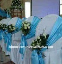 Hot selling organza sashes wedding decoration organza sashes