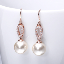 Beautiful Pearl Drop Stud Earrings Ear 925 Sterling Silver earrings