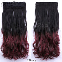 Tight Curly Hair Extension Clip in one piece Synthetic Ombre Hairpieces