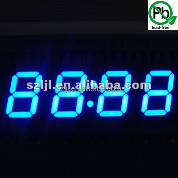 0.2,0.3,0.4,0.5,0.56 inch led digital screen 7 segment led display 4 digit countdowm timer red green yellow blue white