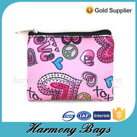 Custom print small zippered promotion cosmetic case