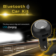 USB Charger for Car with Bluetooth Music Play and Handsfree Function