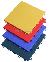 SUGE Indoor Interlcking Sports Flooring Tile, Interlocking Flooring For Sports Court, PP Sports Flooring