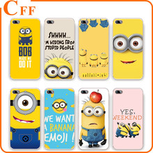 Despicable Me Minions Phone Case Soft Flexible TPU Transparent Skin Scratch-Proof Case for iPhone 4/5/5S/SE/6 Cover