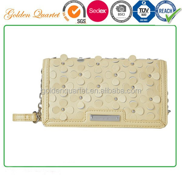 new style woman hand bag/ Ladies clutch made of PU leather