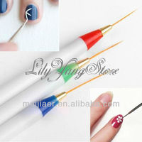 Different size acrylic nylon nail art brush set