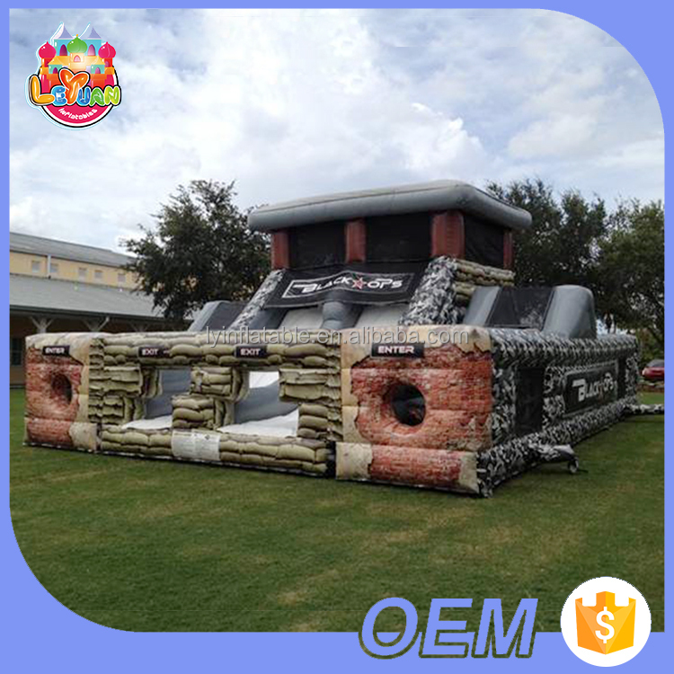 Environmental-Friendly Pvc Material Playground Equipment Kids And Adults Military Jumping Castles Inflatable Obstacle Course