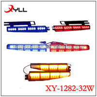 Led Visor light bar/Red Bule Led Police light/LED Strobe Dash Light Bar with Suction Cups /Emergency Police Car LED Deck Light