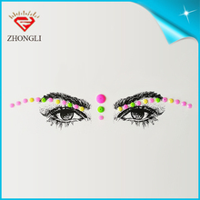 wholesale self adhesive rainbow fashion bindi diamond jewelry sticker for party accessory