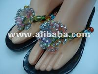 Beaded shoe handmade