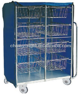 Stainless Steel hospital /medical basket trolley/cart