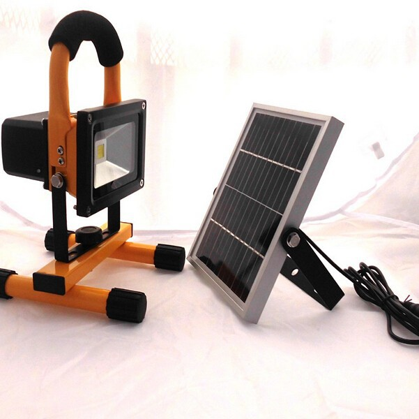 10W Portable Garden Lamp LED Flood Light Solar Camping Light With Motion Sensor