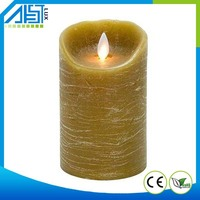 2015 Factory Wholesale New Design Best Selling Paraffin Wax Moving Flame Led Artificial Candle Light