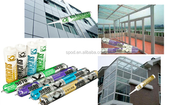 aluminum and upvc window glass sealant, quick drying silicone sealant