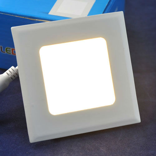 3W Square LED Panel Light Bulb Recessed Ceiling Lamp 2835 15pcs LEDs