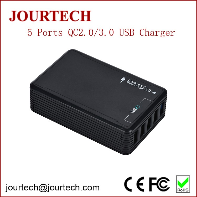 2017 latest fashion cute 51w 5 usb qc2.0 mobile phone universal high power smart battery charger for samsung