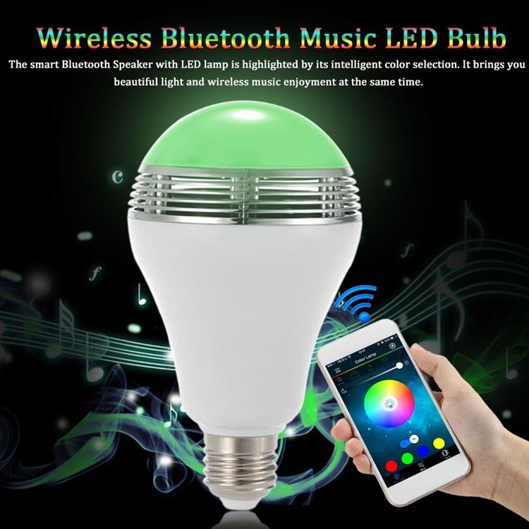 24W App Control RGBW Color Magic Music LED Smart Bulb <strong>Light</strong> with Audio Speaker <strong>Light</strong> Bulb