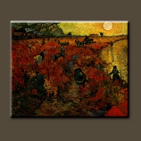 Pure hand-painted high quality vincent van goghvan gogh The Red Vineyard painting - Oil Painting Reproductions