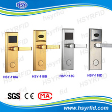 High quality rfid card hotel door lock rf system for hotel room