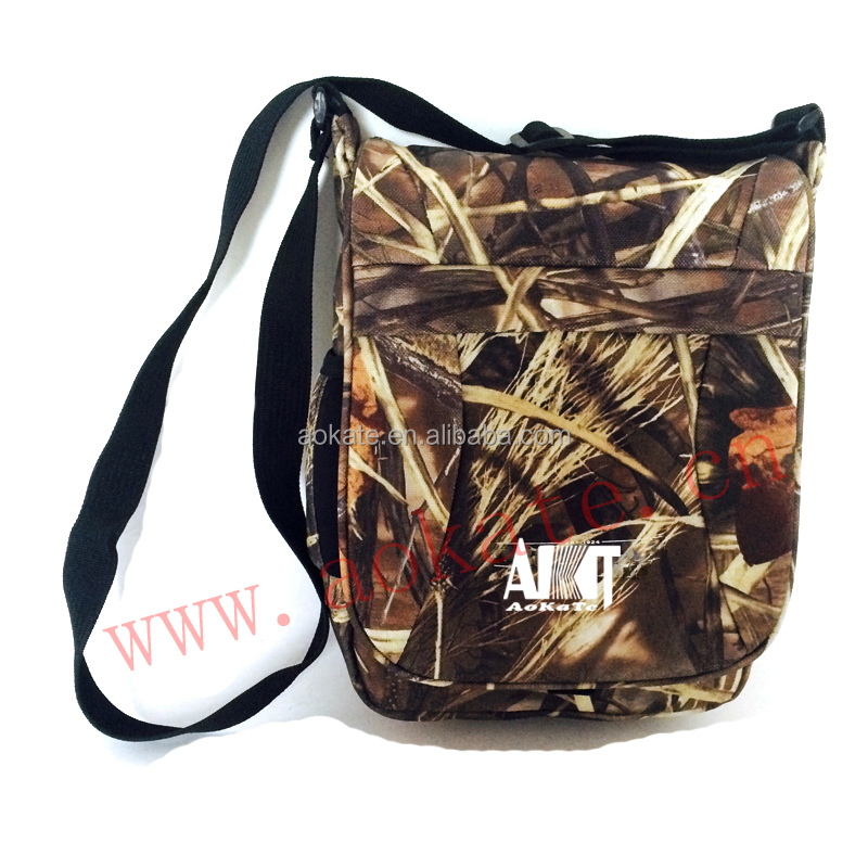 camouflage military shoulder bag hunting camo bag or outdoor hiking travelling bag
