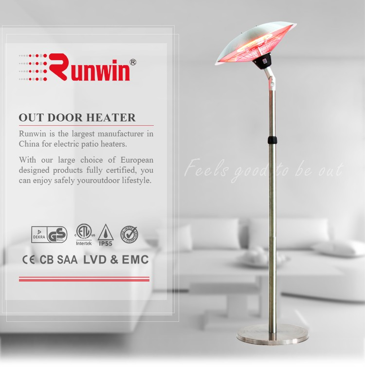Electric Orchard Halogen Heater With Tip-Over Switch