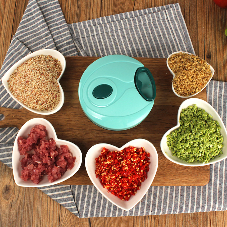 Manual Mini Food Processor Swift Chopper with Prolonged Handle