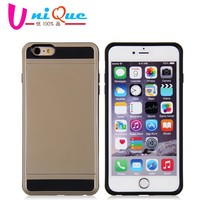 Slim Armor 2 in 1 combo case for iPhone 6, with card slot super thin pc silicone mobile phone cases cover for iphone 6