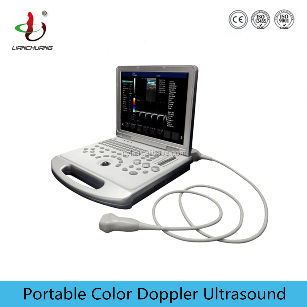 Laptop type portable USG ultrasound machine price with high frequency 12MHz linear probe