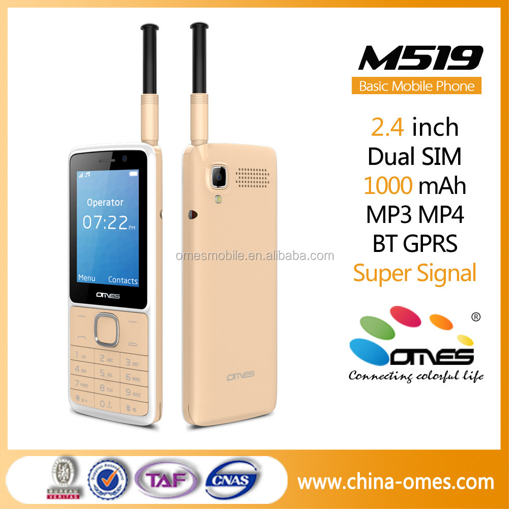 2.4 inch screen mobile phone 2G GSM signal antenna, 1000mAh 4U big battery strong signal, phone mobile for OEM