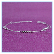 China Jewelry Manufacturer Wholesale New Designs silver Anklets Designs Fancy bracelet for girls