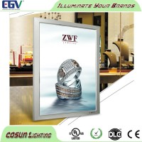 Customzied slim decoration led snap-open poster frame, slim advertising snap frame light box