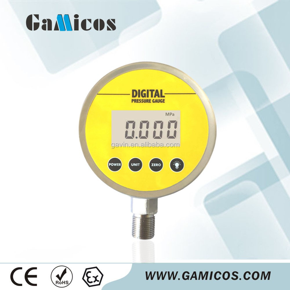LCD display Air digital pressure gauge