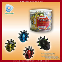 Colorful insect shape chocolate