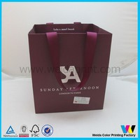 luxury wine red paper gift bag