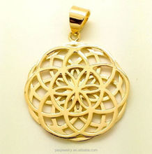 Two Layer Seed Flower of Life Filigree Pendant Necklace(PES1-175)