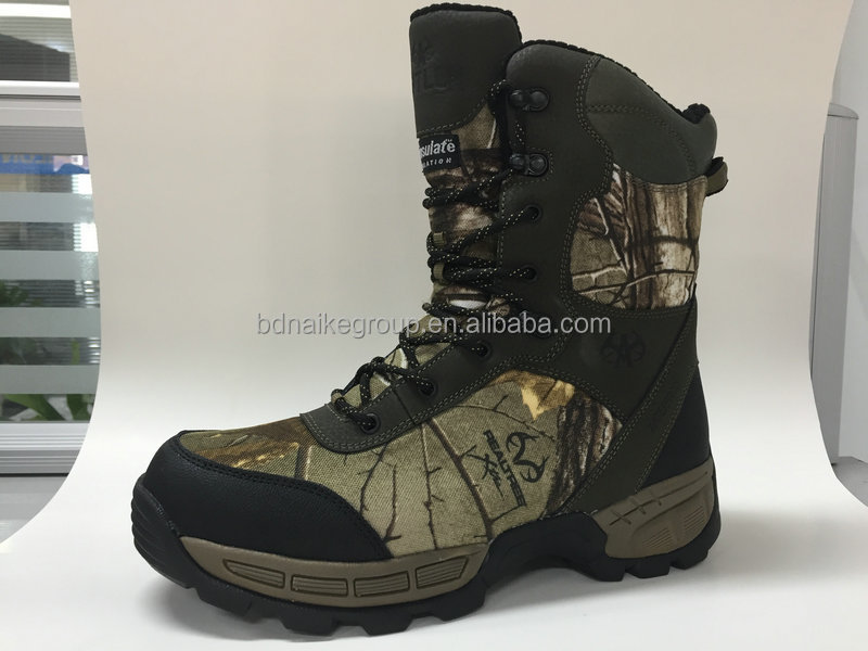 2017 China manufacturer waterproof Camouflage combat boots