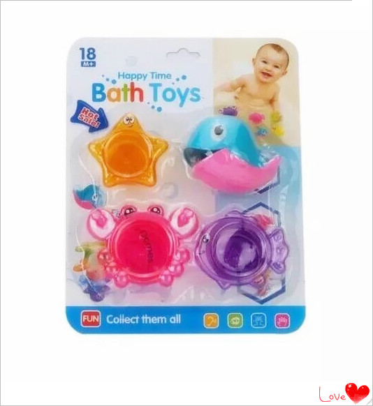 Eco-friendly Cute Design Colorful Soft Bath Toy Baby Shower Gifts Set For Sale