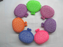 high quality environmentally friendly colorful white round dot silicone wallet
