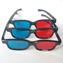 New Fashion Universal type 3D glasses/Red Blue Cyan 3D glasses Anaglyph 3D Plastic glasses Cool Fashion 3d glassess