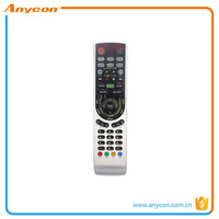 tv remote control with new abs material non-reflective glass pvc synthetic leather raw material