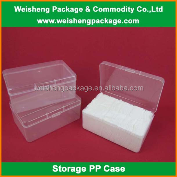 Hot Selling Clear Plastic PP Costmetic Box/cotton pad Storage Case