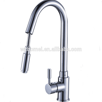 deck mount pull out kitchen faucet with zincalloy handle