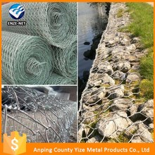 Q235 steel wire gabion baskets welded mesh cage for protection wall